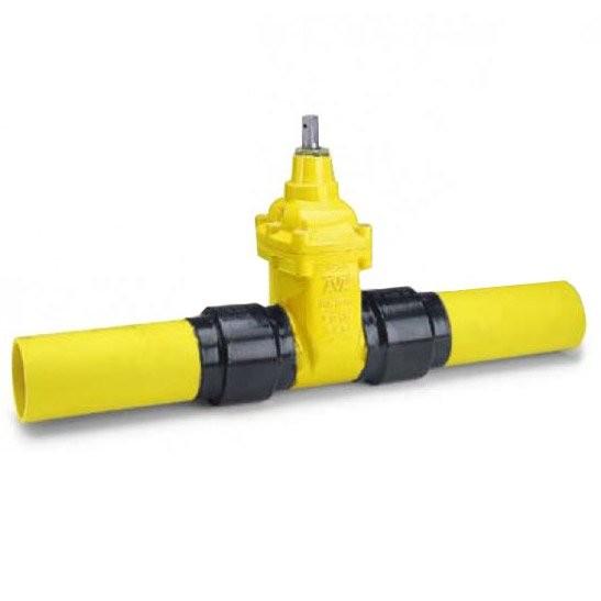 Задвижка AVK (АВК) для газа с ПЭ патрубками. Серия 36/90